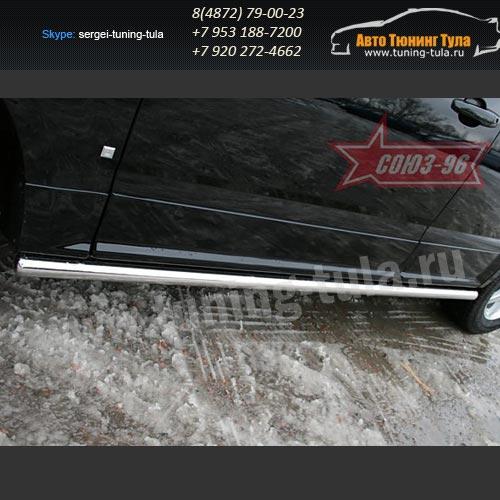Пороги труба d60 Cadillac SRX 2007+  /294-50