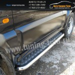 Пороги с листом d57 Suzuki Jimny