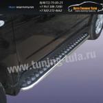 Пороги с листом d42 Subaru Forester 2008+
