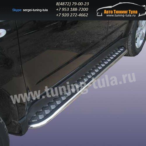 Пороги с листом d42 Subaru Forester 2008+  /293-77