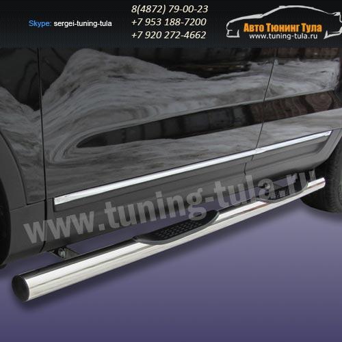 Пороги труба с накладками d76 Ford Explorer 2012+   /294-57