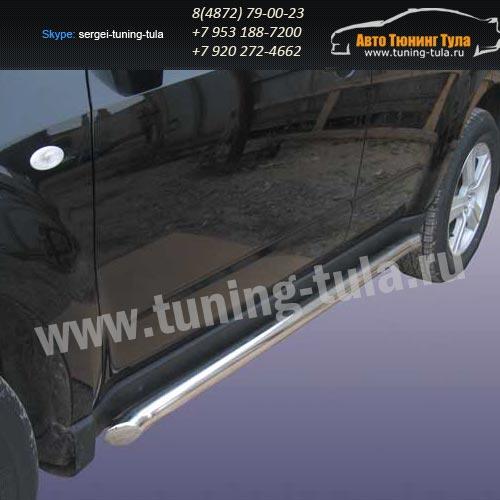 Пороги труба d57 Subaru Forester 2008+  /293-76