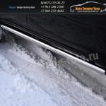 Пороги труба d60 Mitsubishi Pajero Sport 2008+