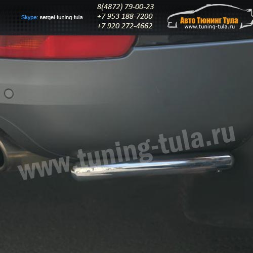 Защита задняя уголки  d42  Audi Q7 2006-09г  /294-37