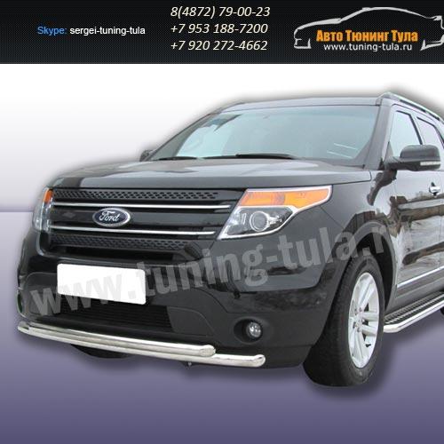 Защита передняя двойная d76+d57  Ford Explorer 2012+   /294-53
