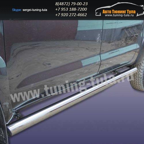 Пороги труба d76 Toyota Hilux 2012+  /294-5