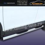 Пороги труба с накладками d76 Toyota RAV-4 2013