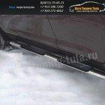 Пороги/Подножки d75x42 овал с накладками Honda CR-V III 2007+