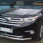 Защита бампера d63/42 секции+дуга Toyota HIGHLANDER 2010+