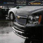 Защита передняя двойная  d60+d60 Chevrolet Tahoe 2008+