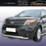 Защита передняя двойная d57+d57  Ford Explorer 2012+