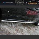 Пороги труба d60 Cadillac SRX 2007+