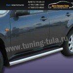 Пороги труба d76 Tagaz TINGO 2011+
