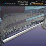 Пороги труба d76 Toyota Hilux 2012+