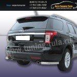 Защита задняя уголки d76 Ford Explorer 2012+