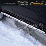 Пороги труба d76 Mitsubishi Pajero Sport 2008+