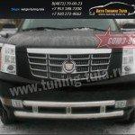 Защита передняя двойная  d60+d60  Cadillac Escalade 2006+