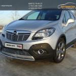 Защита переднего бампера короткая d42,4 мм Opel MOKKA 4WD Turbo 2012+