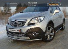 Защита переднего бампера d42,4 мм Opel MOKKA 4WD Turbo 2012+/арт.658-1