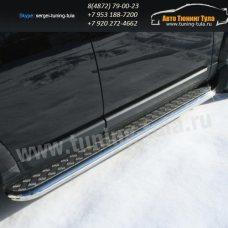 Пороги с листом d60  Land Rover Discovery 4 2009+  /295-26