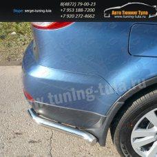 Защита бампера центральная труба d60,3 мм+уголки Subaru Tribeca 2008+  /295-89