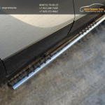 Пороги овальные с проступью d75x42 Opel MOKKA 4WD Turbo 2012+