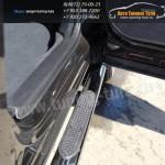 Пороги овальные d75x42 с накладками SUBARU Forester 2013+