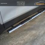 Пороги овальные с накладками d75x42 Opel MOKKA 4WD Turbo 2012+
