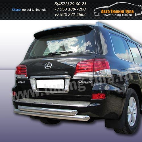 Защита задняя двойная d76+d76 Lexus LX-570 2012+  /295-53
