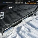Пороги труба с накладками d76  Land Rover Discovery 4 2009+