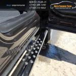 Пороги овальные d75x42 с проступью SUBARU Forester 2013+