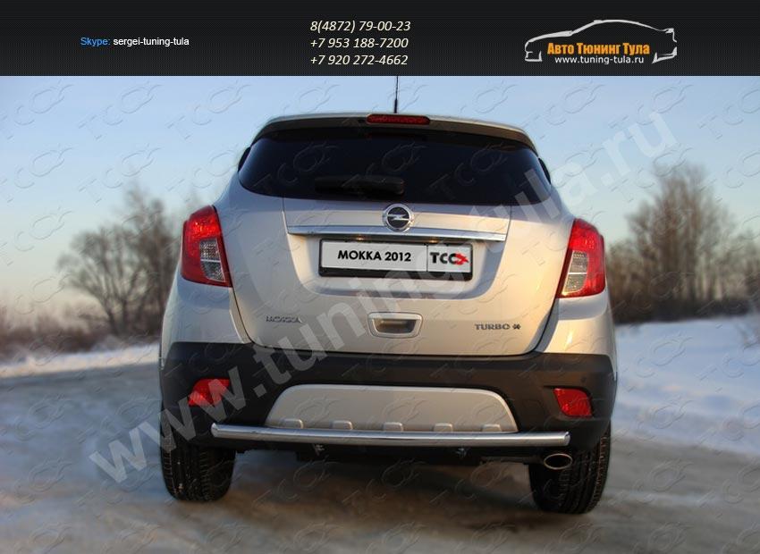 Защита заднего бампера дуга d50.8 мм Opel MOKKA 4WD Turbo 2012+/арт.658-5