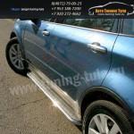 Пороги с площадкой d42.3 мм (алюминиевый лист) Subaru Tribeca 2008+
