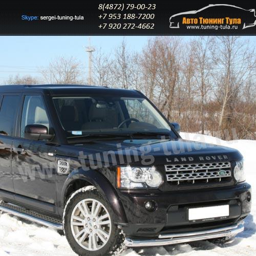 Защита передняя  двойная d76+d42 Land Rover Discovery 4 2009+  /295-25