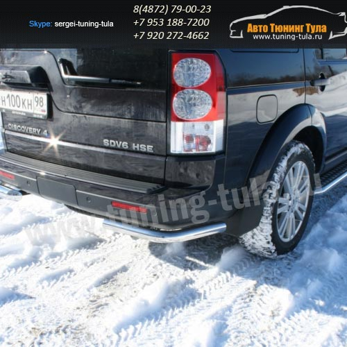 Защита задняя уголки d60 Land Rover Discovery 4 2009+  /295-29