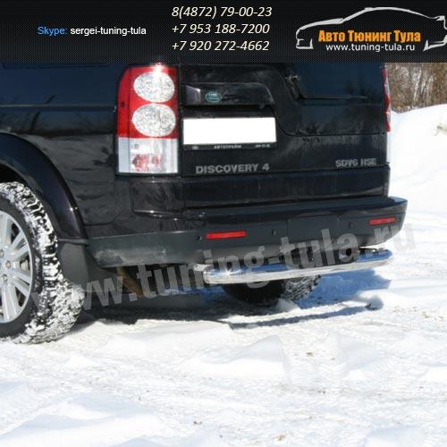 Защита задняя с проступью d76 Land Rover Discovery 4 2009+  /295-28