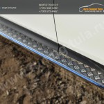 Пороги d42 с листом(алюминий) TOYOTA RAV4 2013+