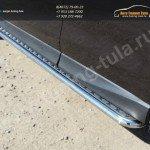 Пороги с площадкой d42 (алюминиевый лист) SUBARU Forester 2013+