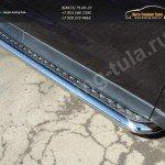 Пороги с площадкой d60.3 мм (алюминиевый лист) SUBARU Forester 2013+