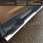 Пороги d120x60 овал с накладками FORD KUGA 2013+
