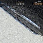 Пороги с площадкой d42 (алюминиевый лист) INFINITI JX 35 2013+