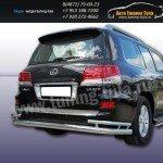 Защита задняя двойная d76+d42 Lexus LX-570 2012+