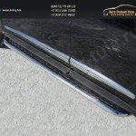 Пороги с площадкой d60 (алюминиевый лист) INFINITI JX 35 2013+