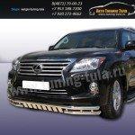 Защита передняя двойная d57+d57 Lexus LX-570 2012+