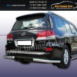 Защита задняя уголки d76 Lexus LX-570 2012+