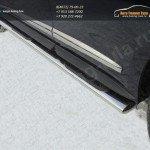 Пороги овальные d120х60 с накладками INFINITI JX 35 2013+
