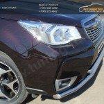 Защита переднего бампера  d60,3/42,4 мм SUBARU Forester 2013+
