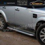 Пороги с листом d60 Land Rover Discovery 3 2004+