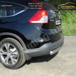 Защита заднего бампера d75х42мм овальная HONDA CR-V 2012+