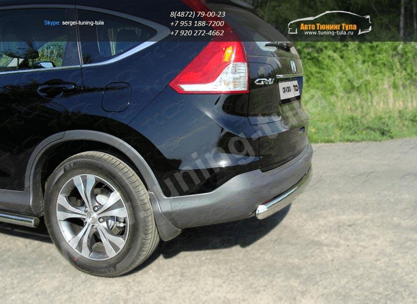Защита заднего бампера d75х42мм овальная HONDA CR-V 2012+ /арт.693-3